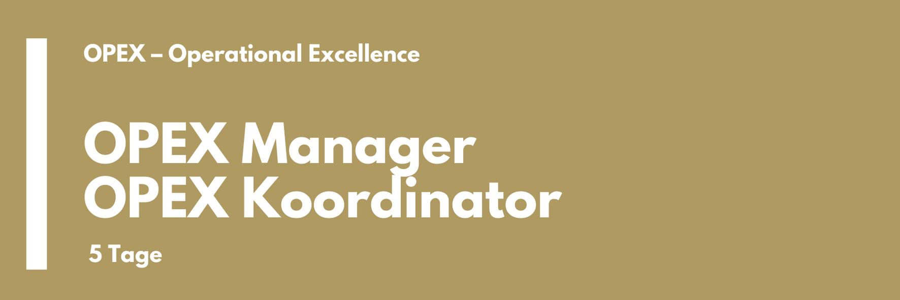 OPEX Manager | OPEX Koordinator